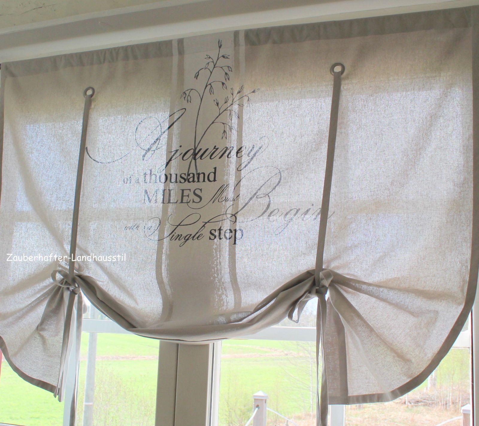 Miles Raff Gardine Cappuccino 100 120 140 Cm Breit Shabby Chic Vintage Curtain Vorhange Schabby Schick Shabby French Chic