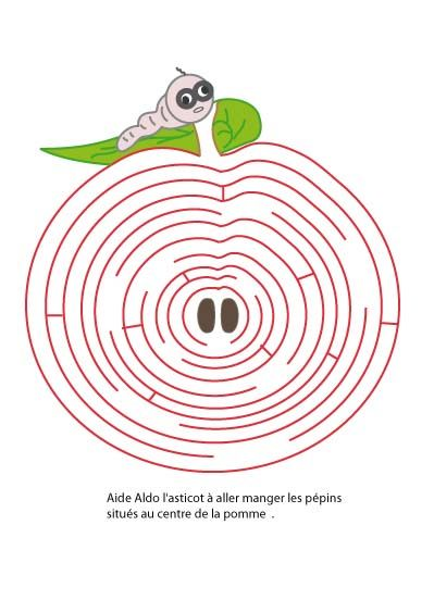 Imprimer le jeu de labyrinthe sur l 39 automne aldo et la pomme n 1 puzzles shadows mazes - Jeu labyrinthe a imprimer ...