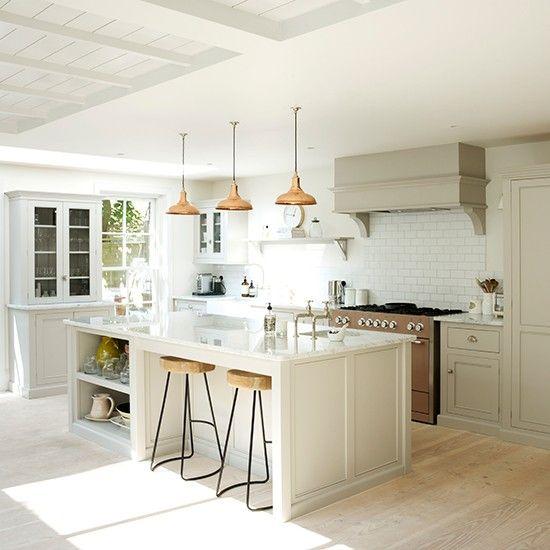 Cozinha Branca Cozinha Com Ilha Central E Bancada