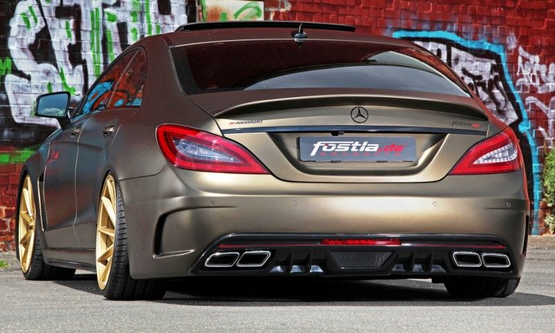 Fostla De Foliation Designs A Wild Mercedes Benz Cls In Metallic Gold Matte 17 800x480