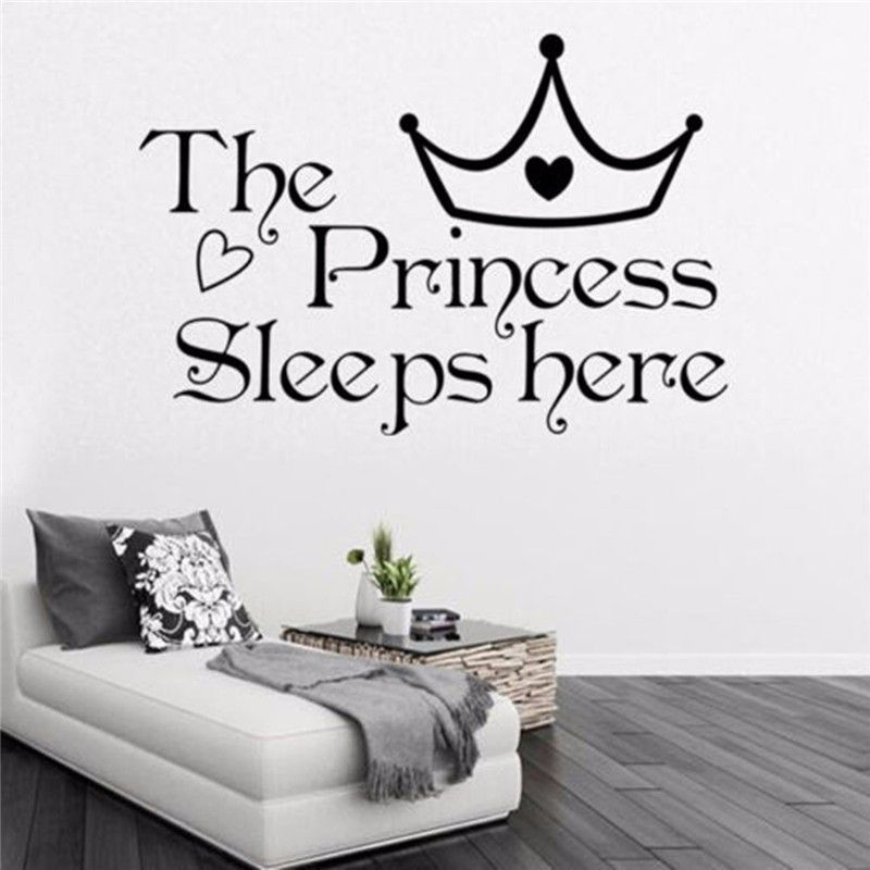 Cheap La principessa dorme quote wall sticker art citazione del ...