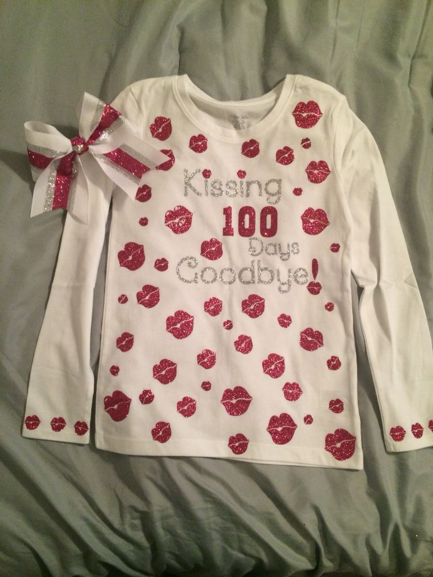 100 days shirt with matching bow