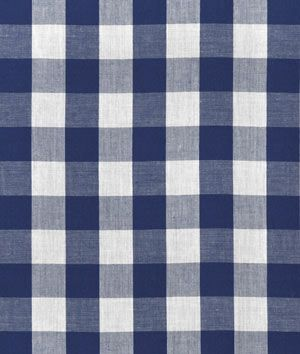 "1"" Navy Blue Gingham Fabric"