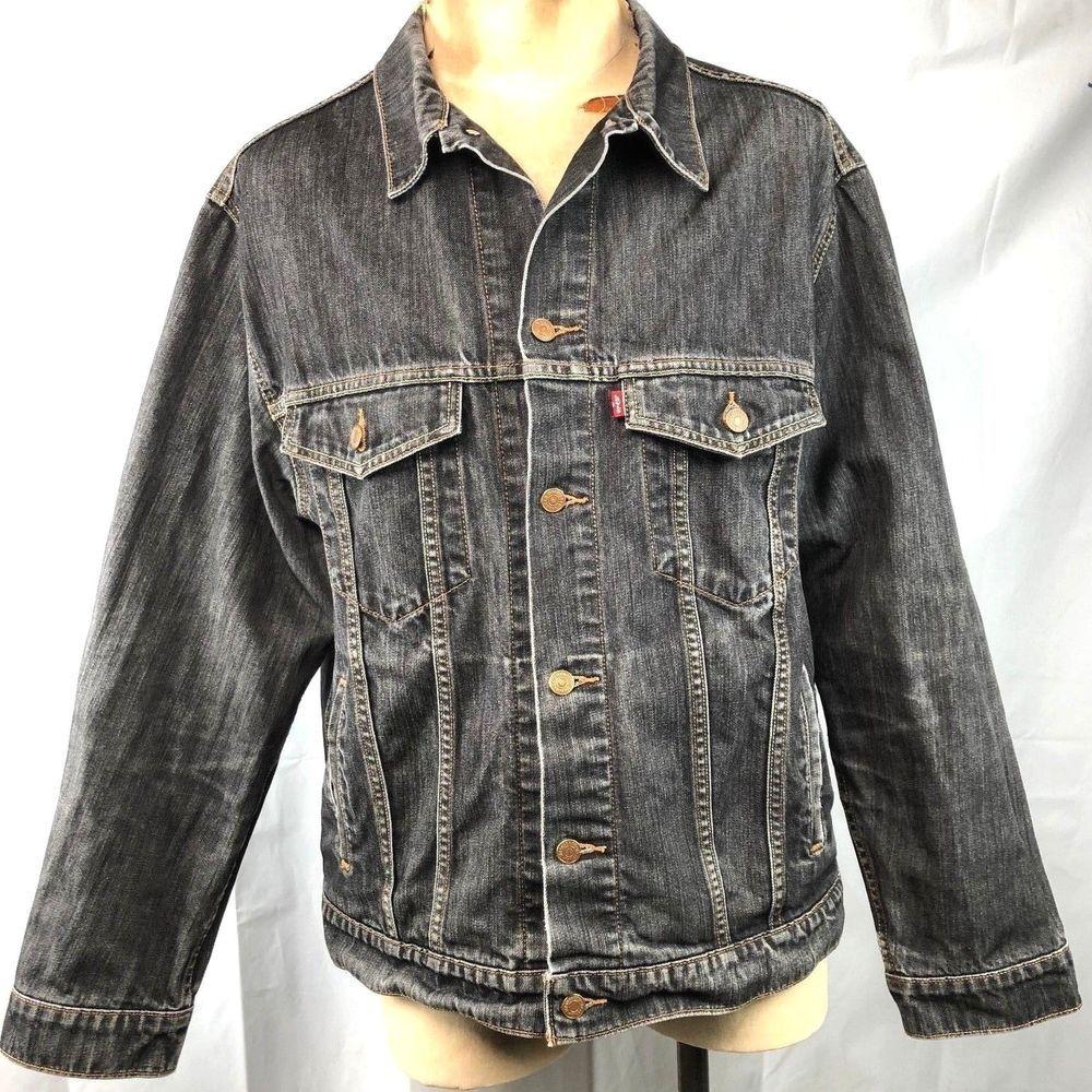 Levis 507 Standard Trucker Xxl Jacket 2xl Mens Black Denim Fade Gold Thread 2009 Levis Jeanjacket Black Denim Denim Fashion [ 1000 x 1000 Pixel ]
