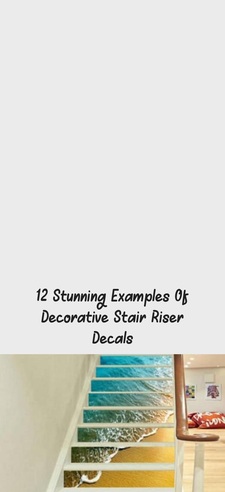 12 Stunning Examples Of Decorative Stair Riser Decals Decorative stair riser decals  removable vinyl and easy DIY projects  staircase makeovers