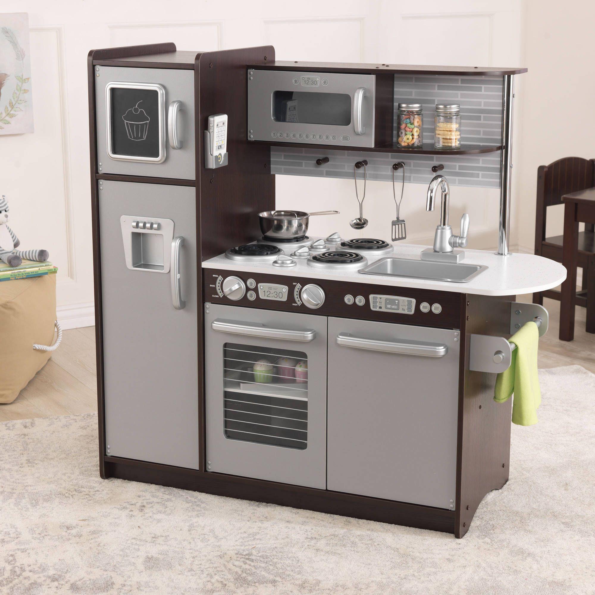 Kidkraft Uptown Espresso Wooden Play Kitchen