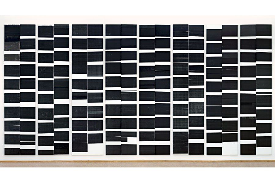 Wide Horizontal by wade Guyton
