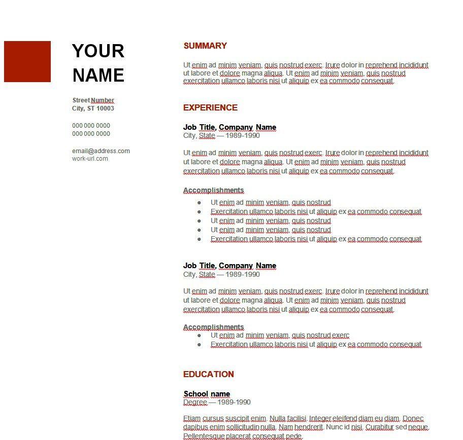 3 Ejemplos De Curriculum Vitae En Ingles Modelos De Curriculum