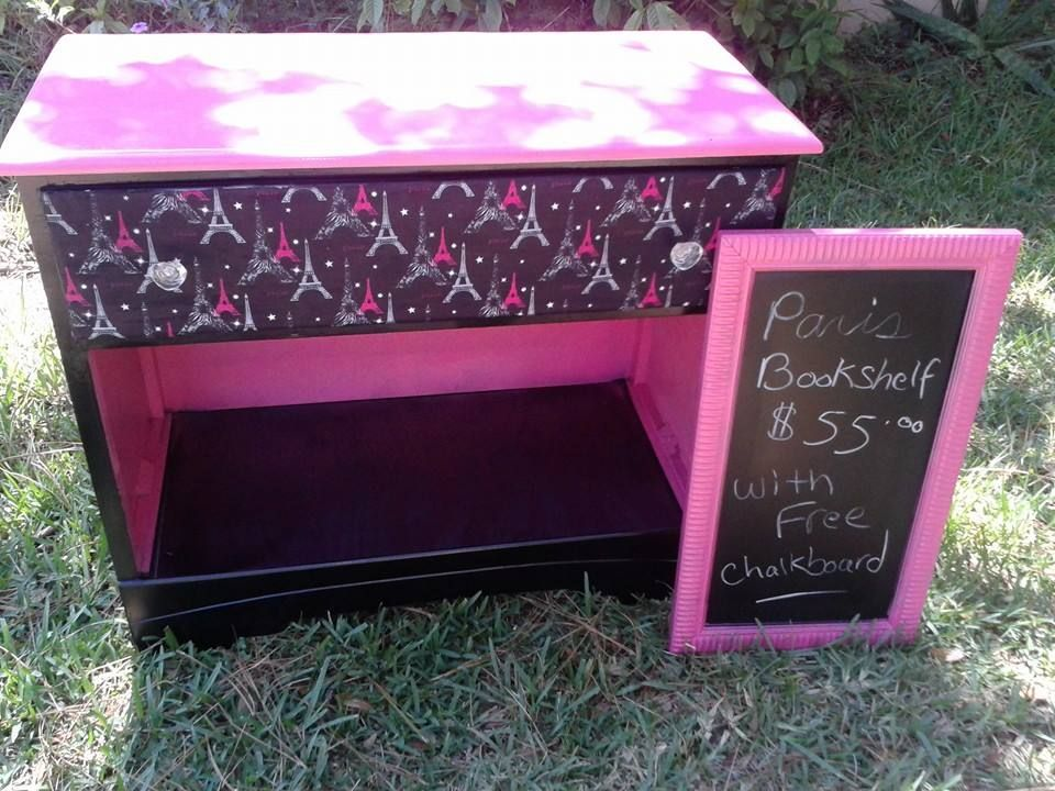 Re-purposed Dresser with matching Chalkboard