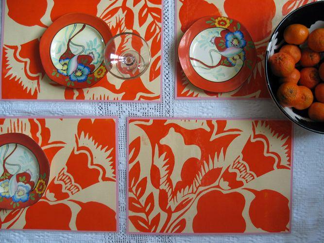 silkscreened placemats * sisters gulassa