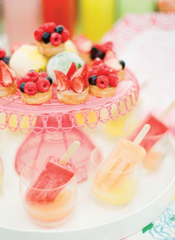 Berry tarts and little ice creams :3