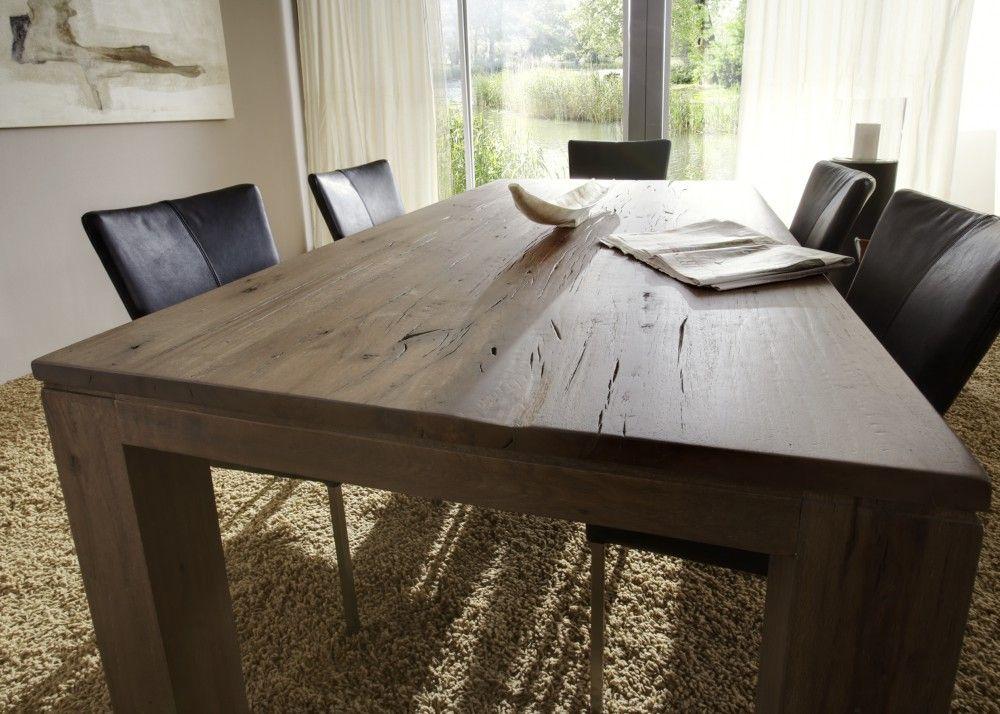 Essgruppe Samson 200cm - Esstisch \ 4 Stühle - Balkeneiche massiv - küchentisch mit stühlen