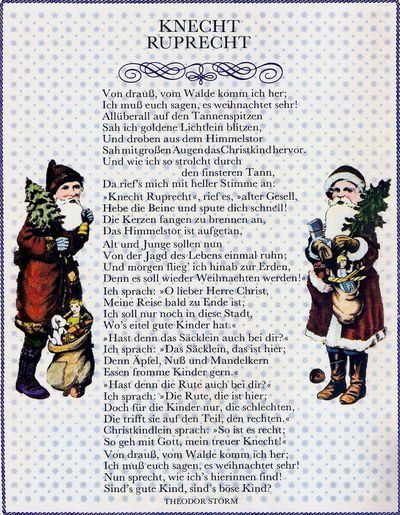 Knecht Ruprecht Gedicht Yahoo Image Search Results