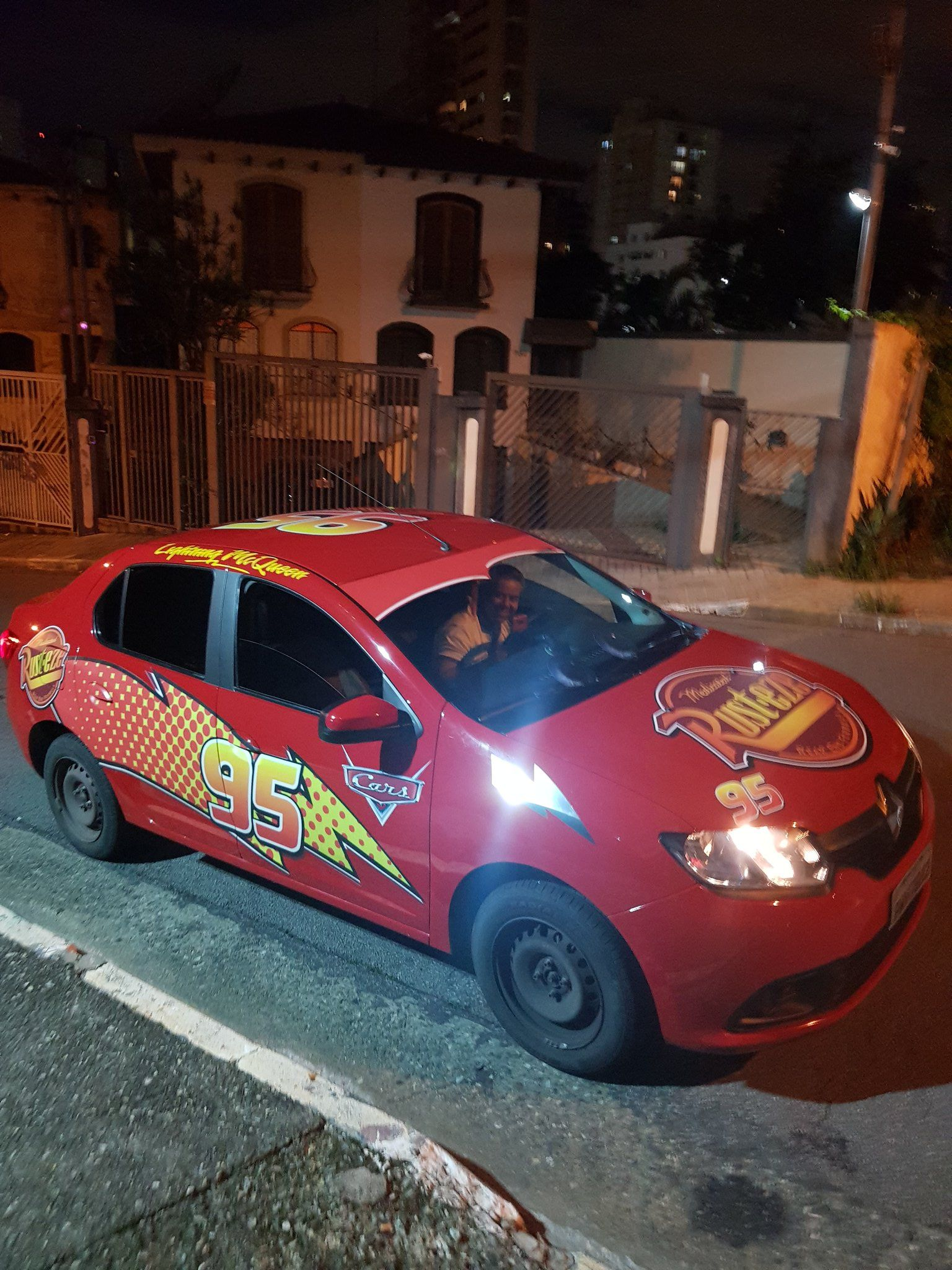 In Brazil A Guy Called A Uber Then Came Lightning Mcqueen Kachow