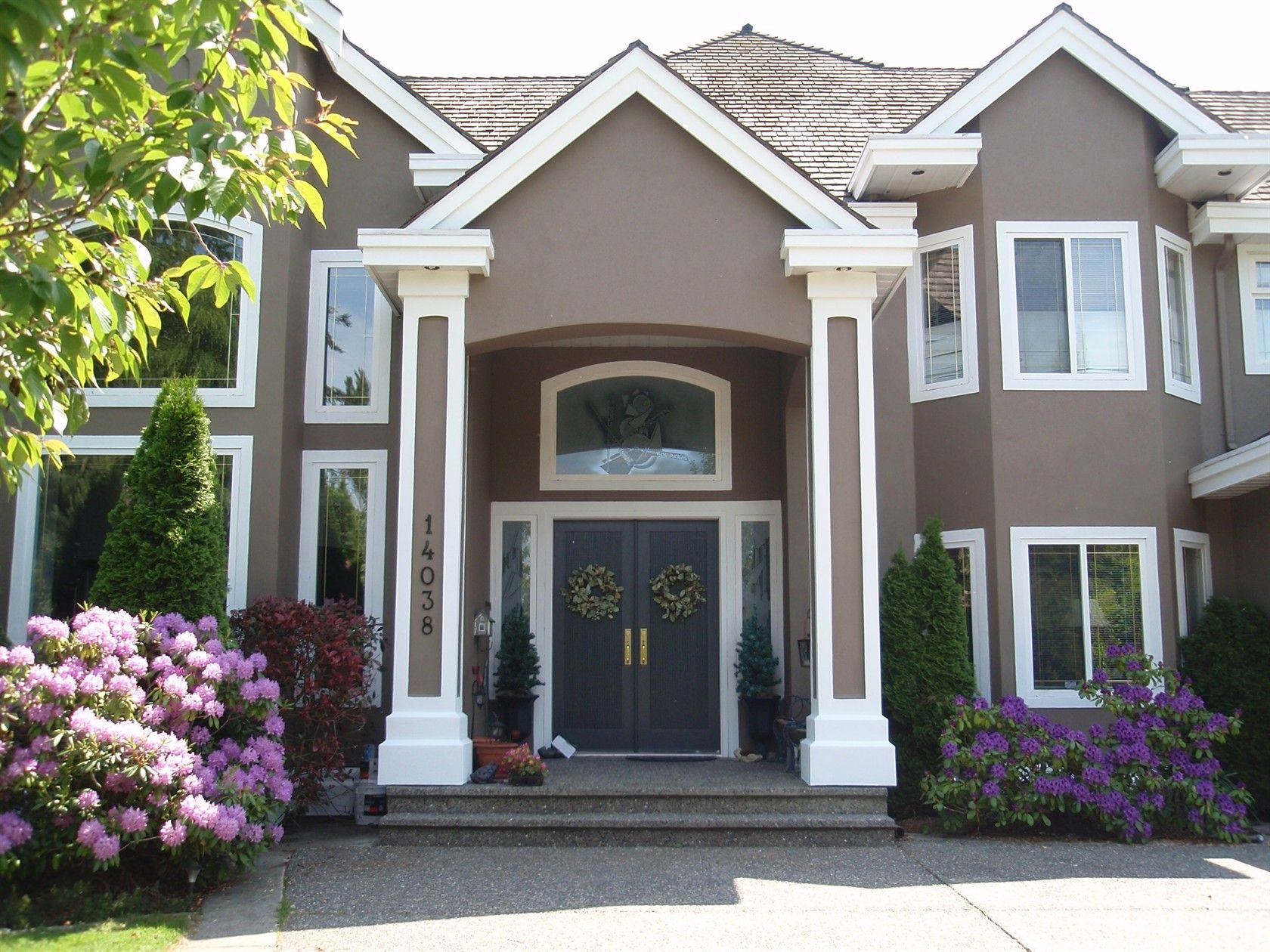 Awesome Paint Colors For House Exterior Gray Brown For Main Color Largest Home Design Picture Inspirations Pitcheantrous