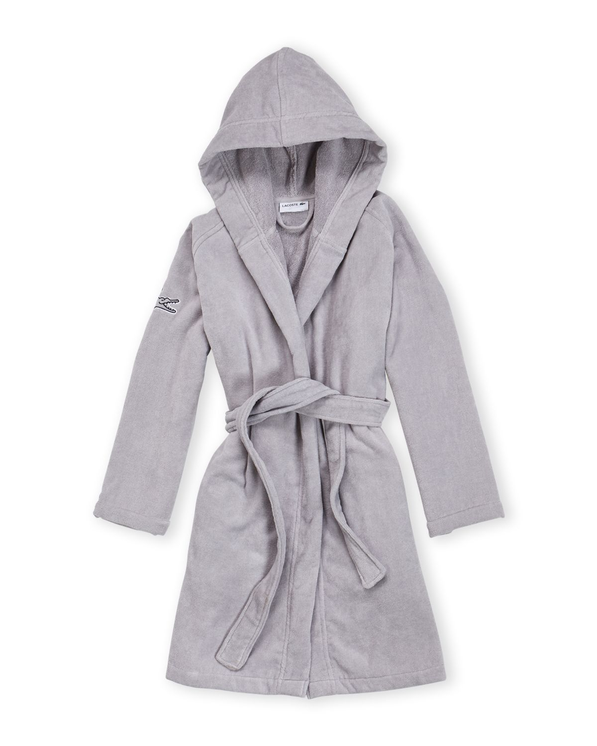 Lacoste Grey Classic Piqu Hooded Robe Robe Hoods Grey