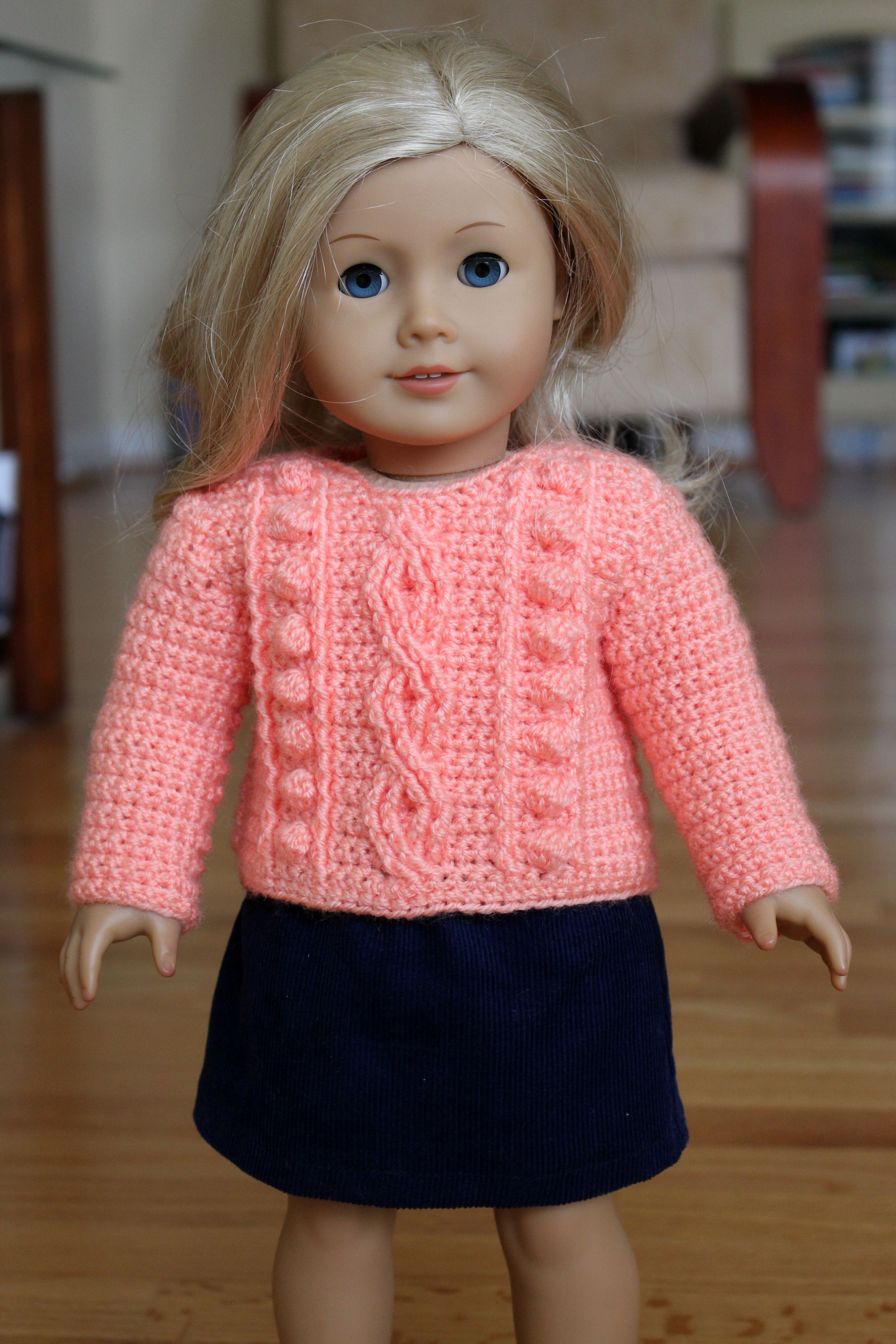 American Girl Doll Clothes 18 Inch Crochet Cable