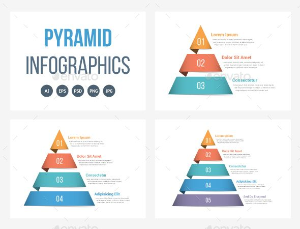 Pyramid Infographics  Infographic Templates Ai Illustrator And