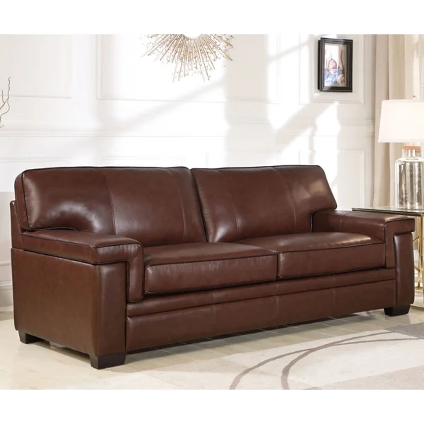 Overstock Com Online Shopping Bedding Furniture Electronics Jewelry Clothing More In 2020 Top Grain Leather Sofa Leather Sofa Brown Leather Sofa