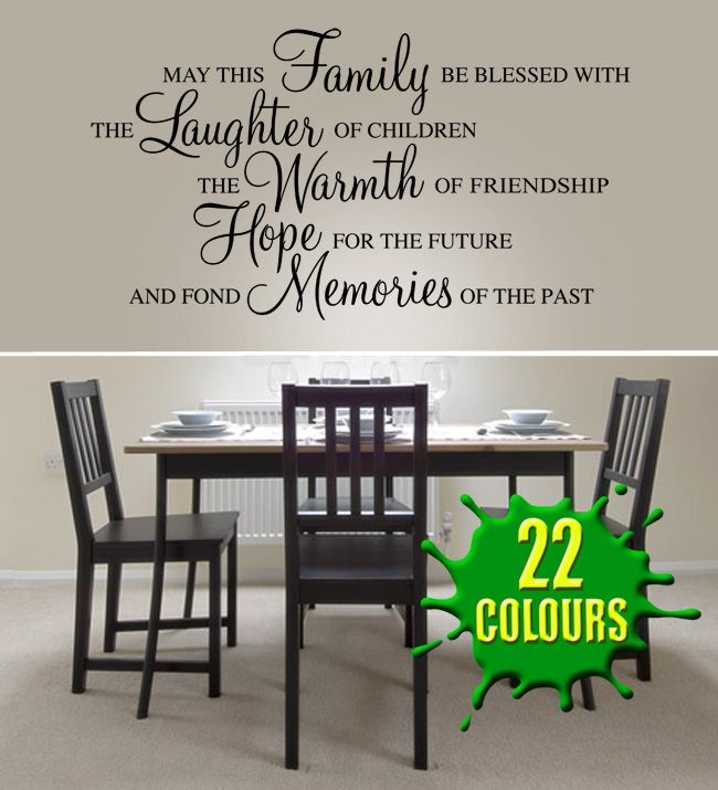 family wall stickers decor |  family be blessed - wall decal