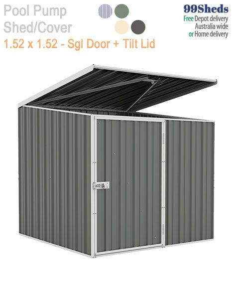 Absco Pool Pump Shed At Gardenshed Com Pool Pump Shed Single Doors