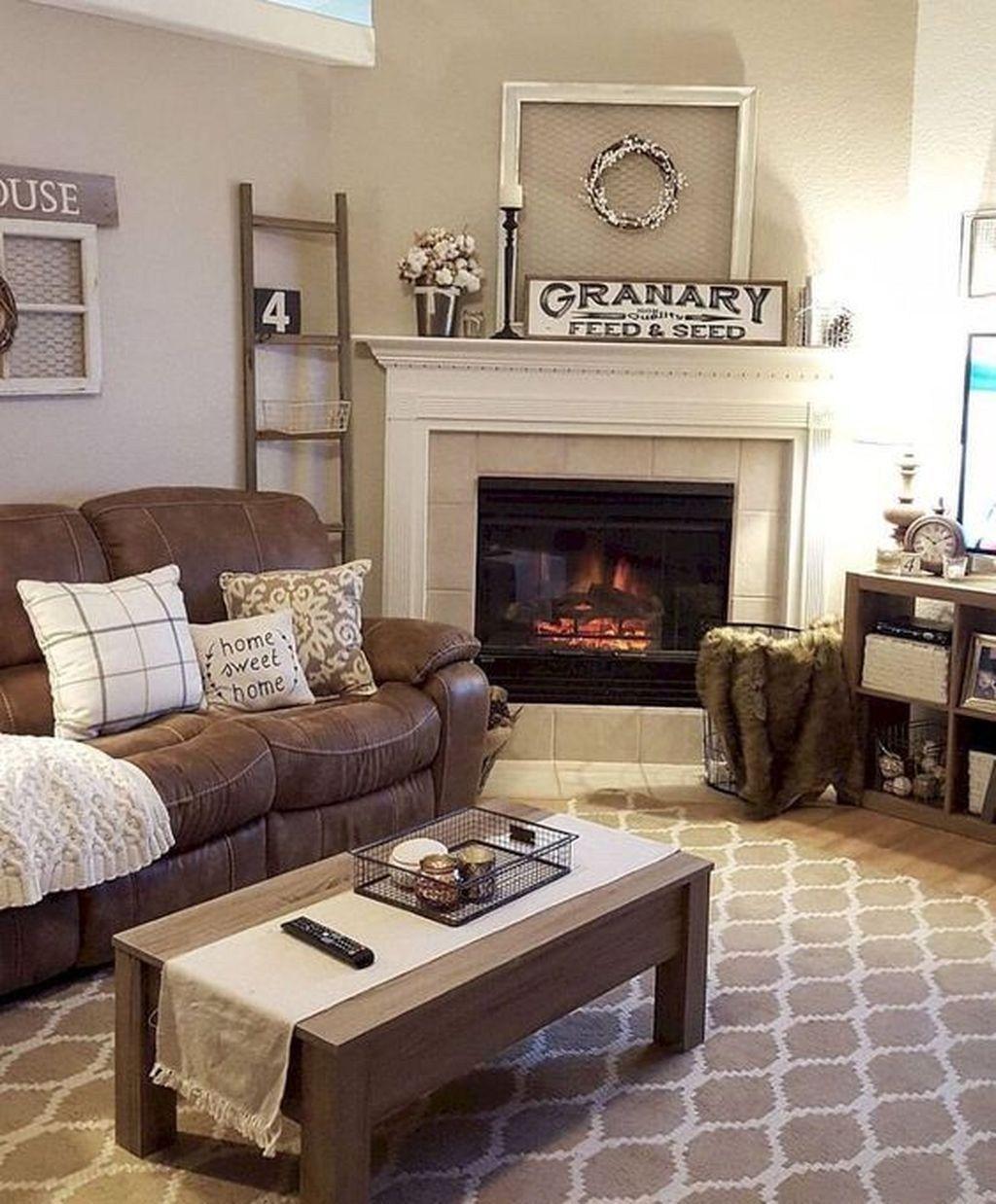24 Awesome Farmhouse Living Room Ideas Farm House Living Room Brown Couch Living Room Couch Decor