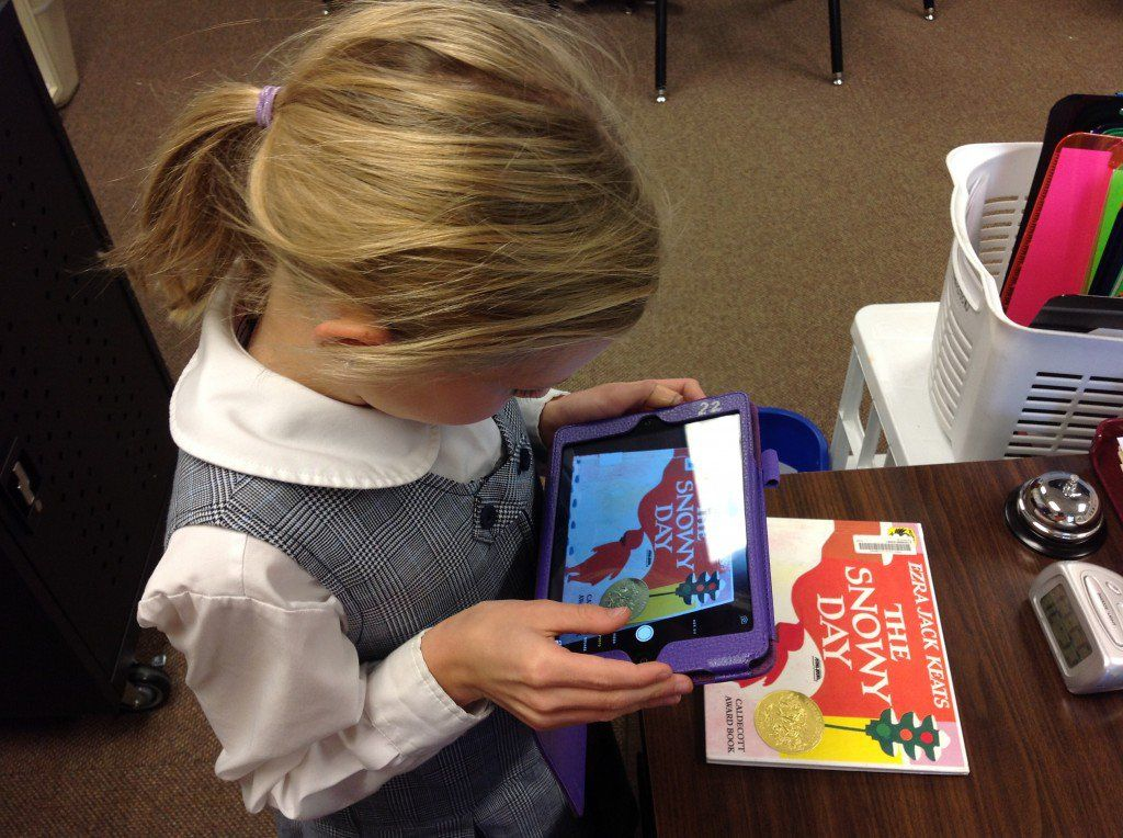 3rd-grade students produced book talks using Tellagami or ChatterPix Kids (both free).