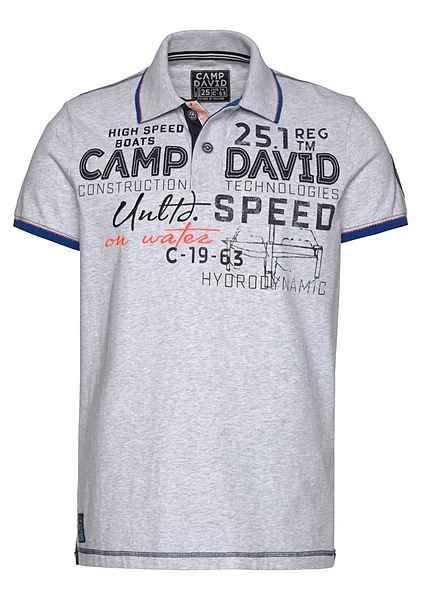low priced 2fd1c ae63f CAMP DAVID Poloshirt Druck auf Kragenunterseite | Polo ...