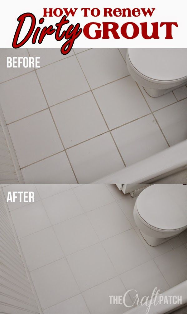 How To Make Dirty Bathroom Grout Look Like New Diy