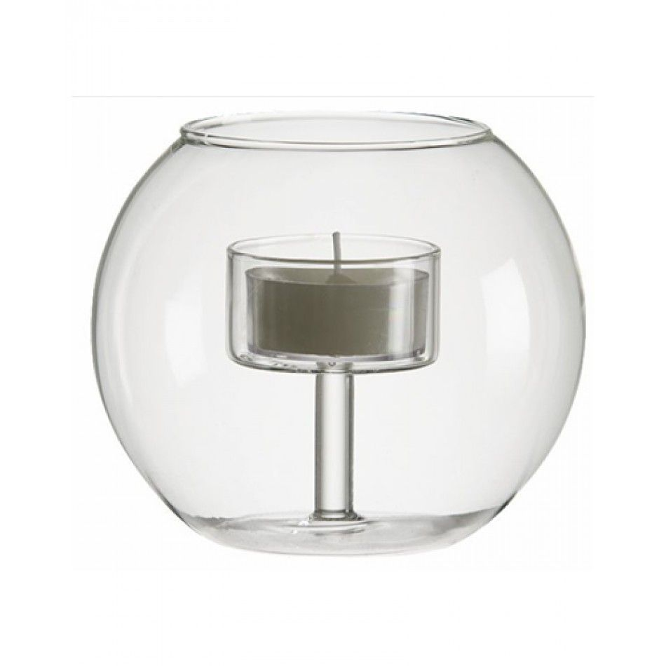3.5 Bubble Clear Glass Tealight Candle Holder (Case of 12 = $3.98 ...