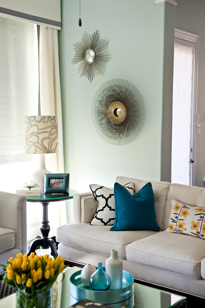 glamorous turquoise beige living room | Pin by Glitter Glamour on home decor | Home decor, Home ...