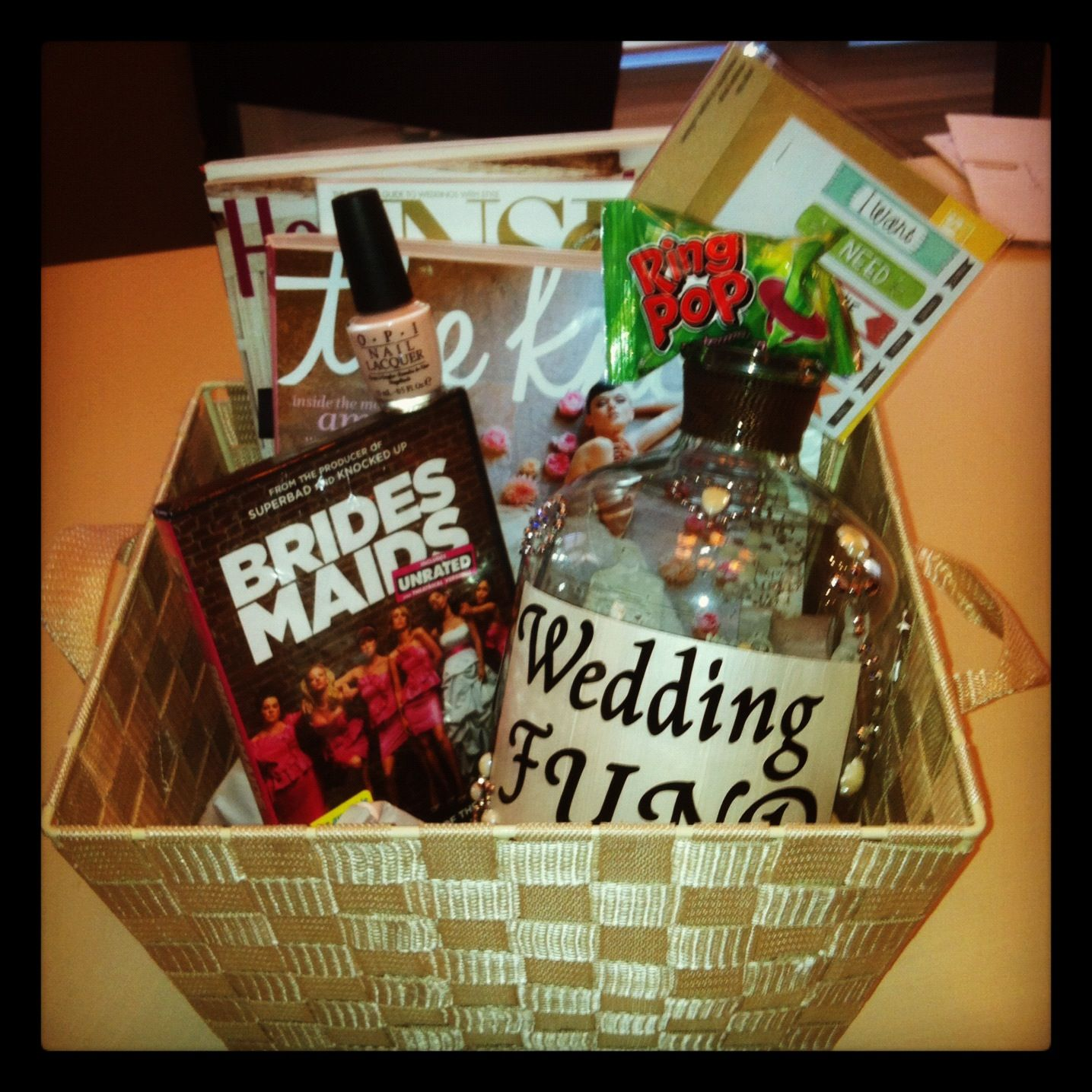 Home Made Engagement Gift Basket Put My Own Ideas Into It Labels
