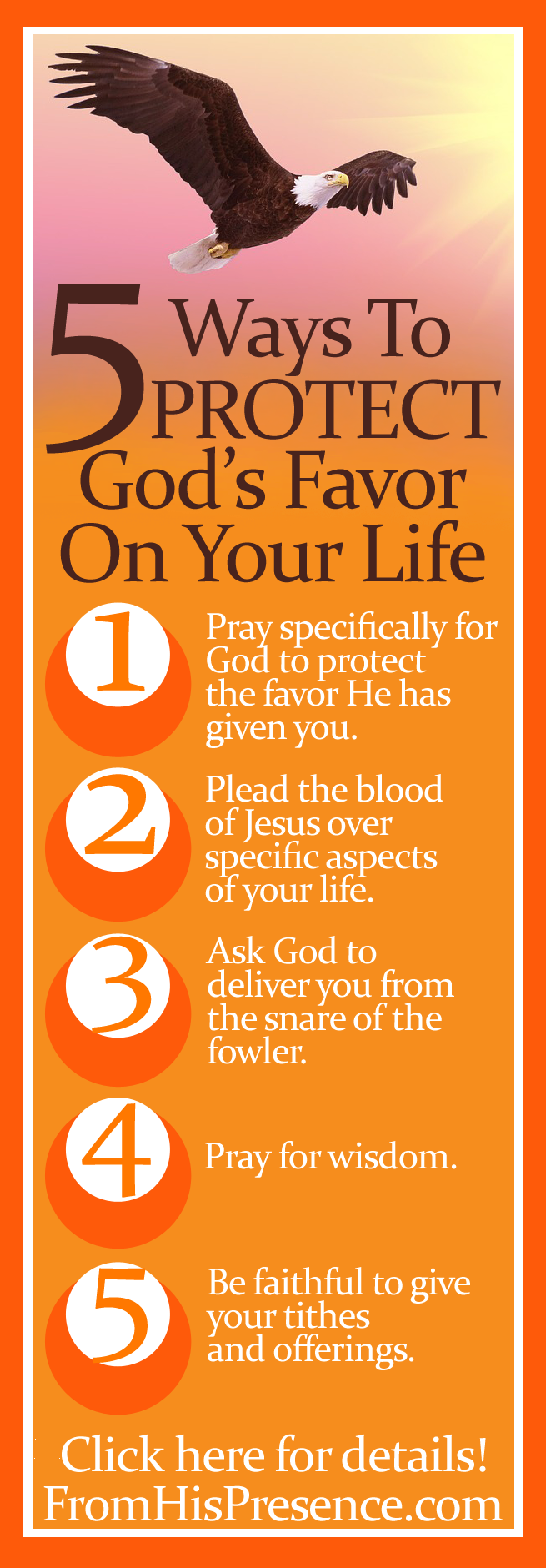 Free printable bookmark How to protect God's favor and