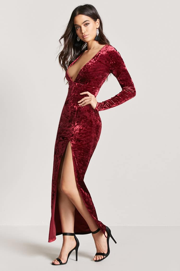 Product Name:Crushed Velvet Maxi Dress, Category:dress, Price:22.9 ...