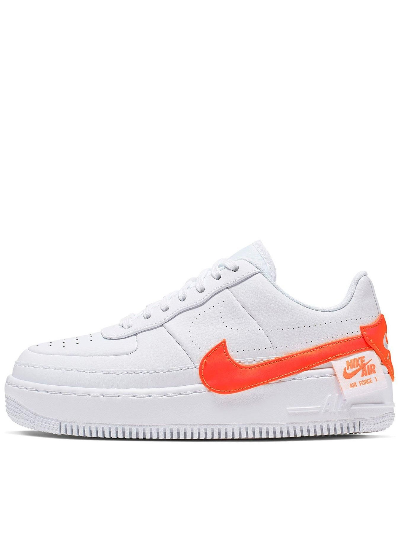 Nike Air Force 1 Jester WhiteOrange , WhiteCrimson, Size