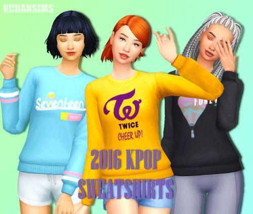 2016 Kpop Sweatshirts by Kchansims. | Sims 4, Sims 4 cc ...Korean Toddler Cc Sims 4
