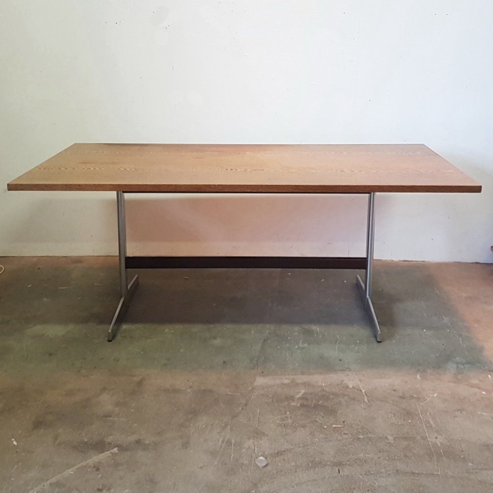 For Sale Wenge Chrome Dining Table By Pastoe Netherlands 1970s