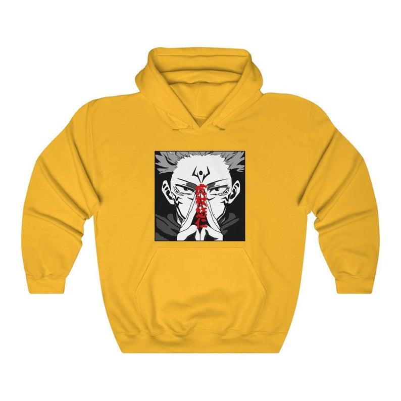 Jujutsu Kaisen Hoodie Satoru Gojo Yuji Itadori Sukuna Sweatshirt Anime Manga Aesthetic Japanese Unisex In 2021 Sweatshirts Hoodies Anime Sweatshirt