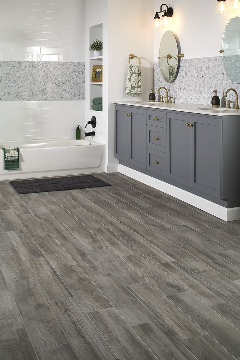 Photo Features EverMore By Daltile In Shadow Wood On The Floor And - Daltile charleston
