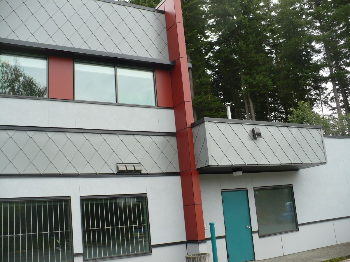 White Diamond Accent Wall Shingles In Painted Metal Steel Roof Shingles Cladding Wall Cladding