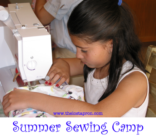 You can plan your own Summer Sewing Camp. Over the next several weeks I will be posting instructions on how to teach your children to sew in the form of a camp.