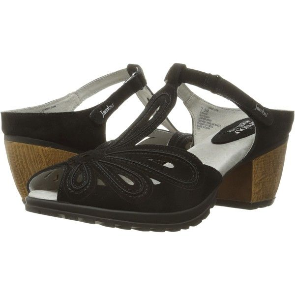 Jambu Sahara (Black) Women's Wedge Shoes ($48) ❤ liked on Polyvore featuring