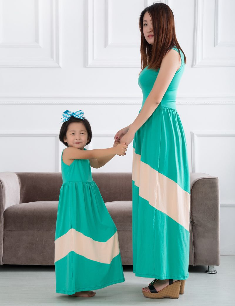 Authentic Mom and Daughter Dress with Maxi Summer Vacation Dresses ...