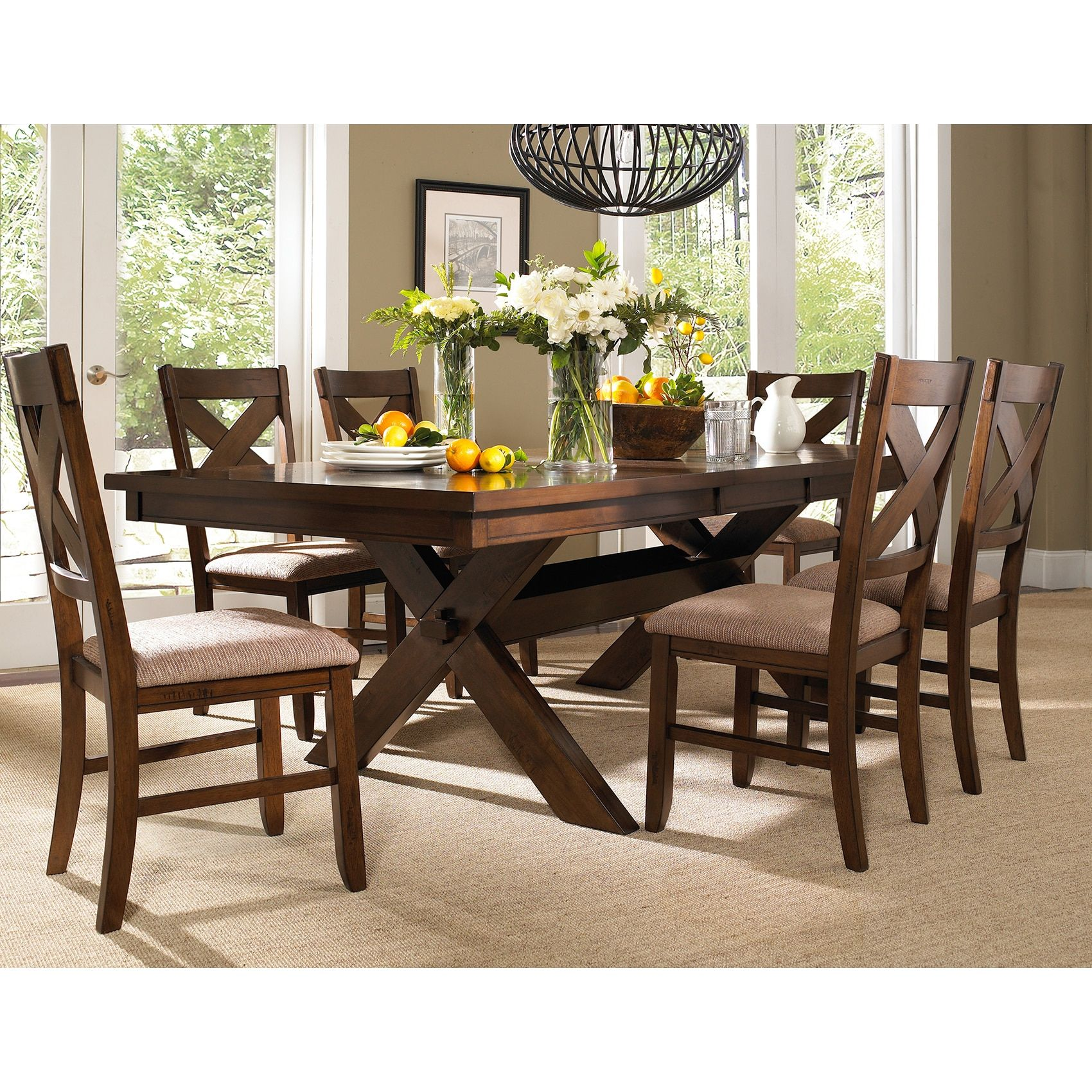 Best Deals On Dining Table And Chairs: Gracewood Hollow Doctorow 7-piece Solid Wood Dining Set