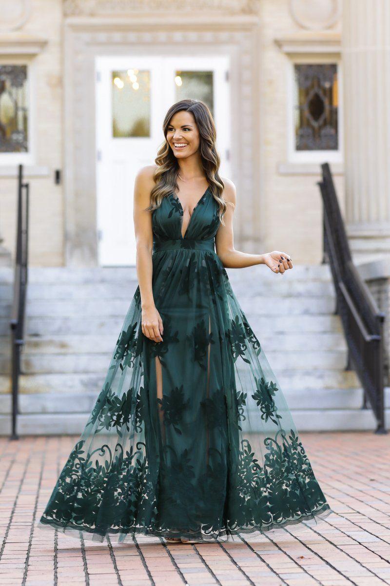 a61334435117 Stunning Maxi Dress - Gorgeous Green Gown -  68 – Red Dress Boutique