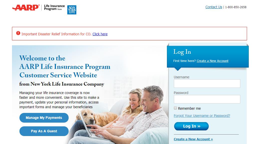 AARP Life Insurance Online Bill
