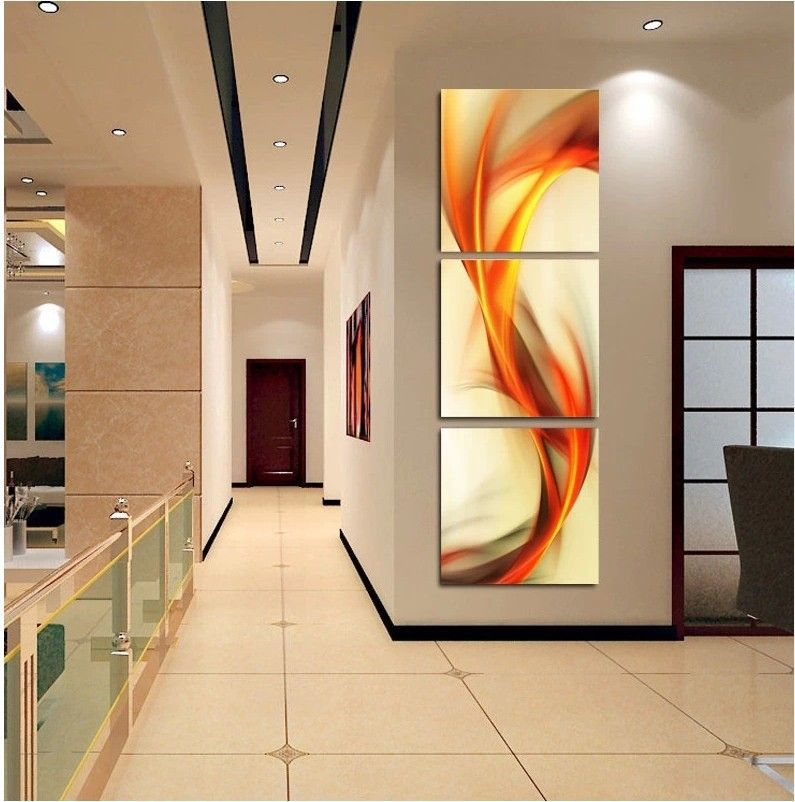 Back Hall Way Or Dinning Room Free Shipping 3 Vertical Version Of Elves Living Room Home Furnishing Mur Modern Wall Paint Wall Art Pictures Wall Frame Design