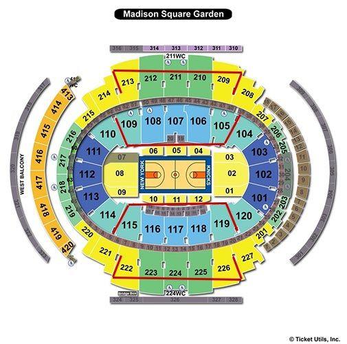 New York Knicks Madison Square Garden Seating Chart New