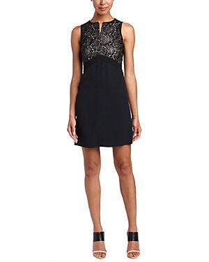 A L C Varney Lace Top Sheath Dress