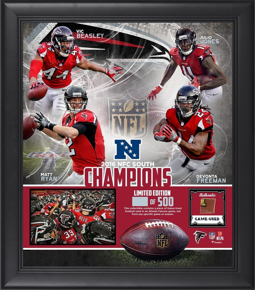 Atlanta Falcons Framed 15 X 17 2016 Nfc South Division Champions Item 5879392 Atlantafalcons Teamplaquecolla Nfc South Atlanta Falcons Logo Atlanta Falcons